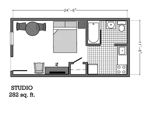 Studio Floor Plan Affordable Corporate Suites